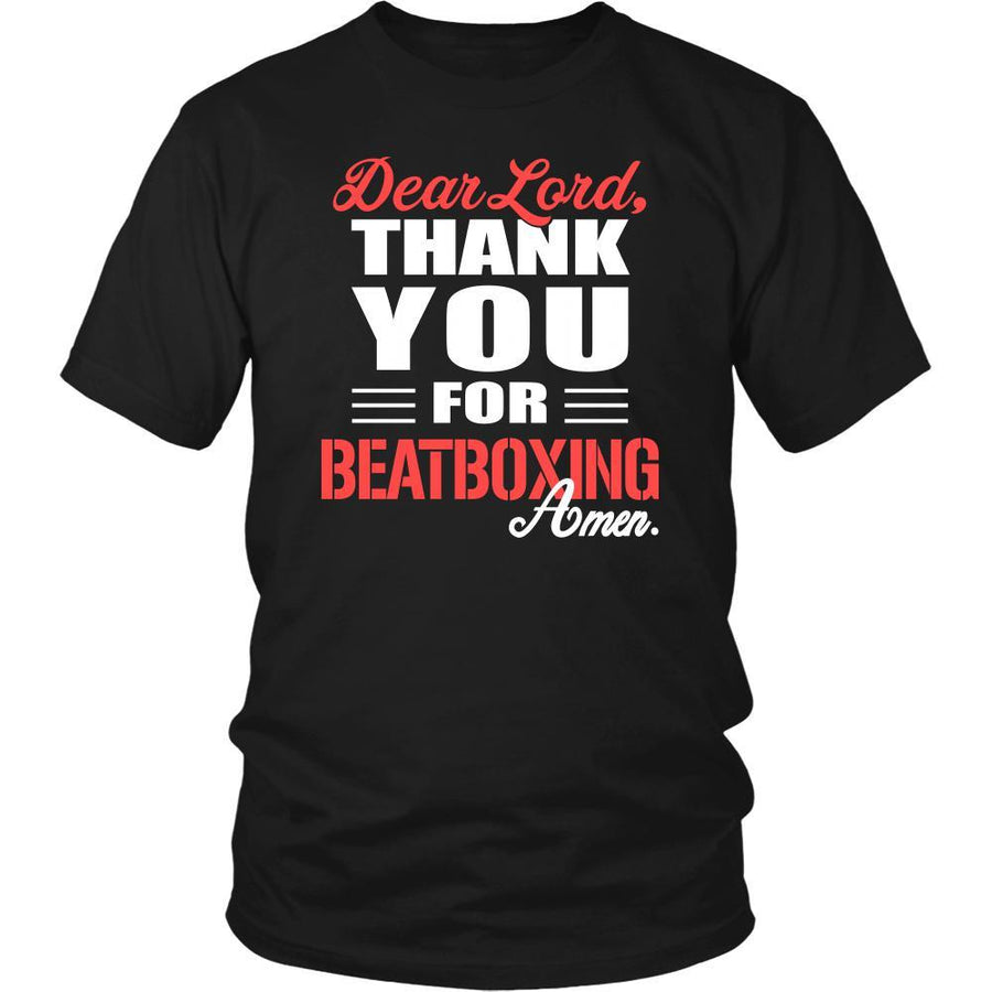 Beatboxing Shirt - Dear Lord, thank you for Beatboxing Amen- Hobby-T-shirt-Teelime | shirts-hoodies-mugs