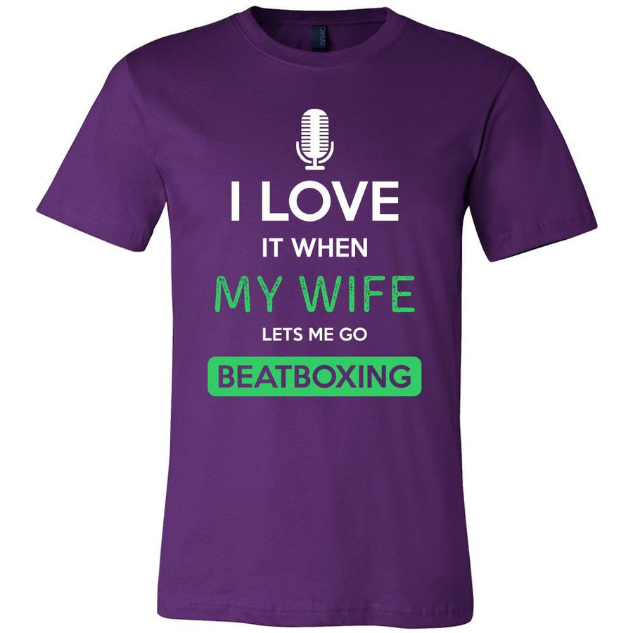 Beatboxing Shirt - I love it when my wife lets me go Beatboxing - Hobby Gift-T-shirt-Teelime | shirts-hoodies-mugs