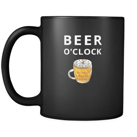 Beer - Beer O'clock - 11oz Black Mug-Drinkware-Teelime | shirts-hoodies-mugs
