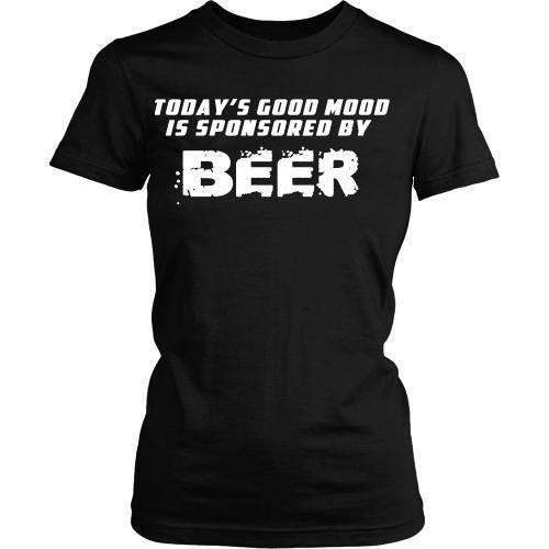 Beer T Shirt - Good mood is sponsored by Beer-T-shirt-Teelime | shirts-hoodies-mugs