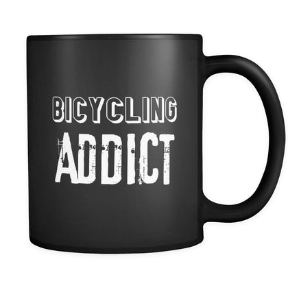 Bicycling Bicycling Addict 11oz Black Mug-Drinkware-Teelime | shirts-hoodies-mugs