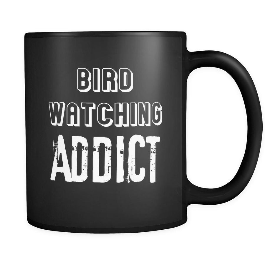 Bird watching Bird watching Addict 11oz Black Mug-Drinkware-Teelime | shirts-hoodies-mugs