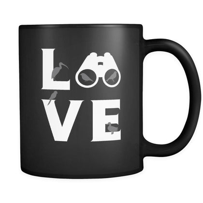 Bird watching - LOVE Bird watching - 11oz Black Mug-Drinkware-Teelime | shirts-hoodies-mugs