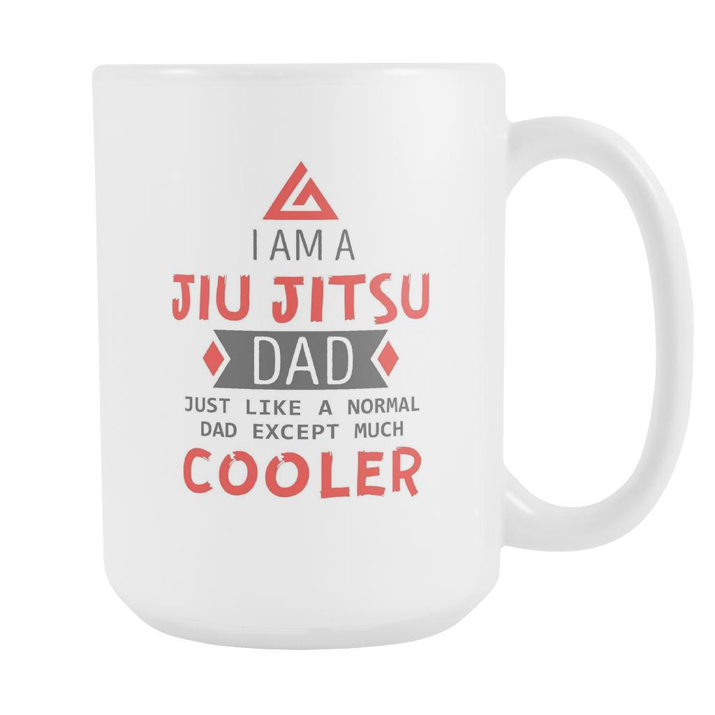 97f66512 BJJ Coffee Mug - Jiu Jitsu Dad 15oz-Drinkware-Teelime | shirts-hoodies