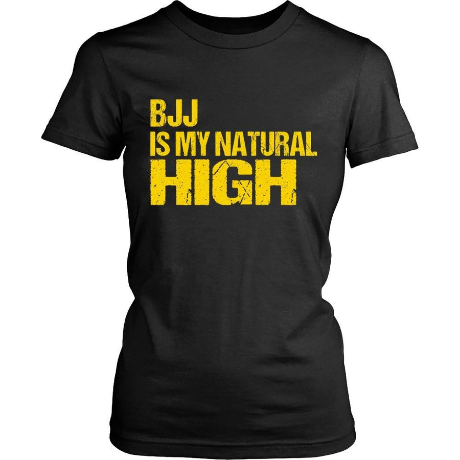 BJJ T Shirt - BJJ is my natural High-T-shirt-Teelime | shirts-hoodies-mugs