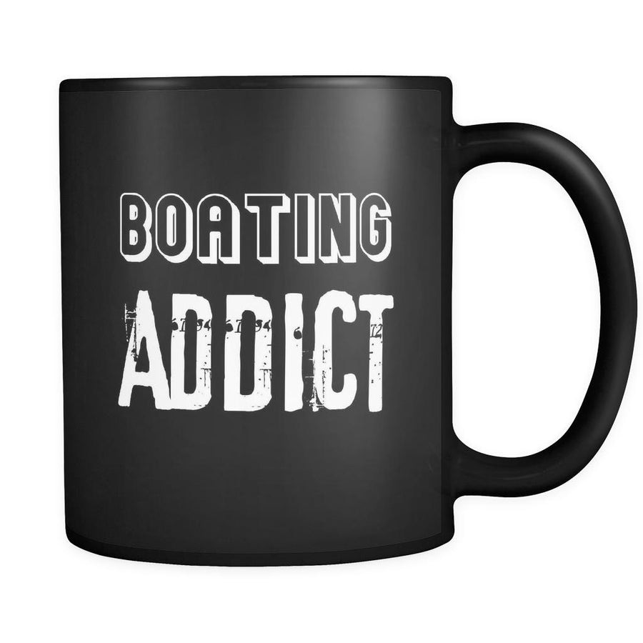 Boating Boating Addict 11oz Black Mug-Drinkware-Teelime | shirts-hoodies-mugs