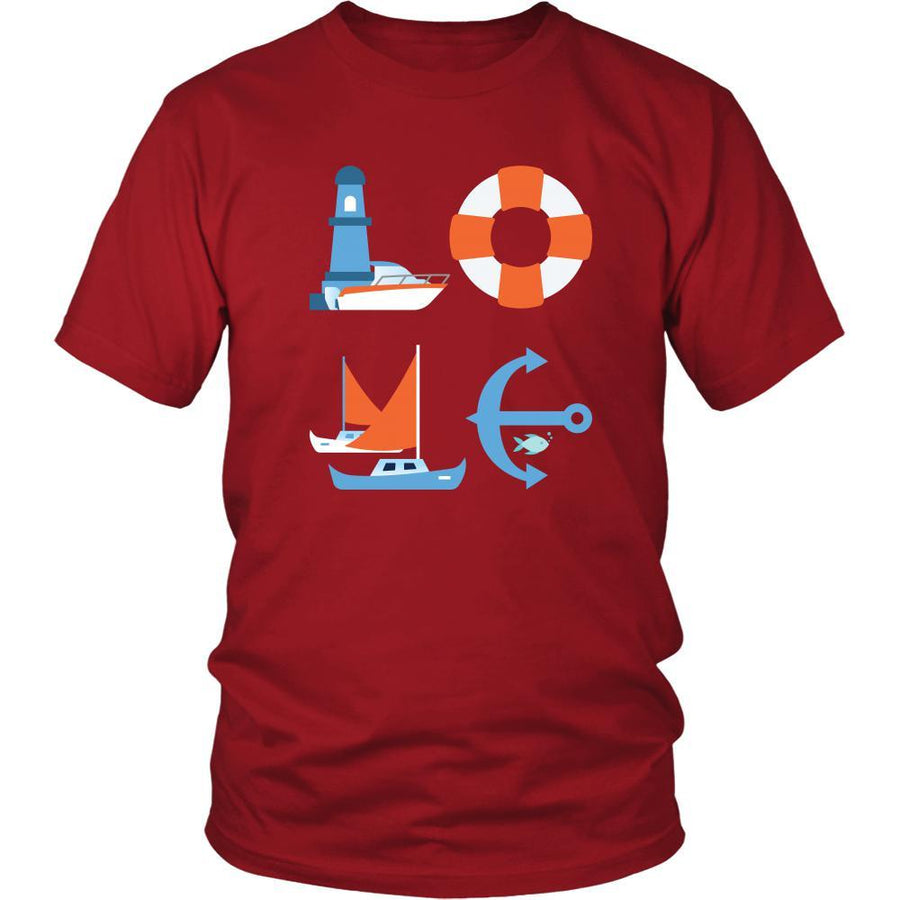 Boating / Sailing - LOVE Boating / Sailing - Sail Hobby Shirt-T-shirt-Teelime | shirts-hoodies-mugs