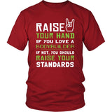 Bodybuilder Shirt - Raise your hand if you love Bodybuilder, if not raise your standards - Profession Gift-T-shirt-Teelime | shirts-hoodies-mugs