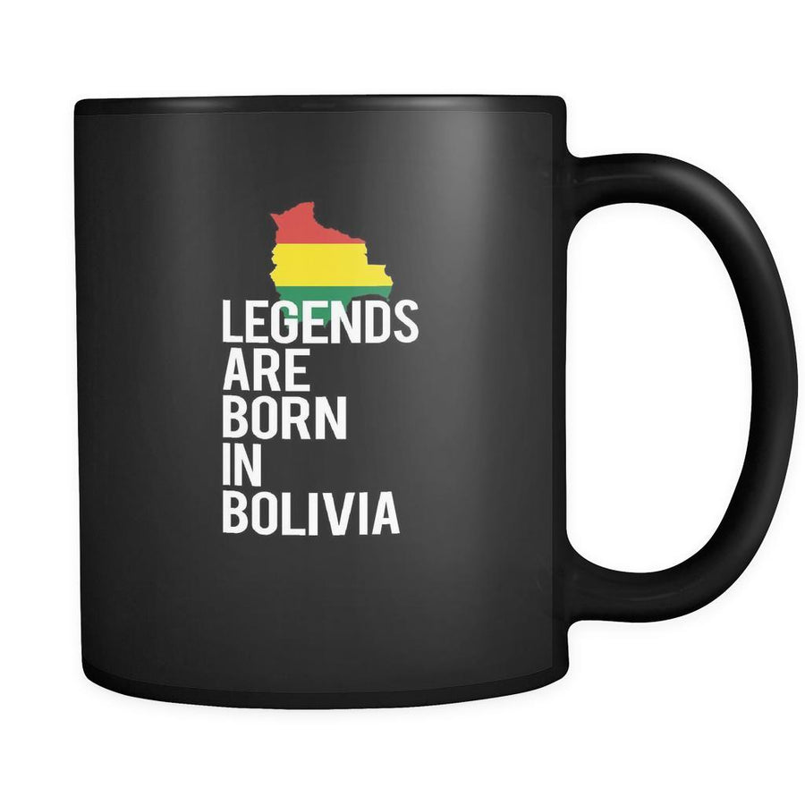 Bolivia Legends are born in Bolivia 11oz Black Mug-Drinkware-Teelime | shirts-hoodies-mugs