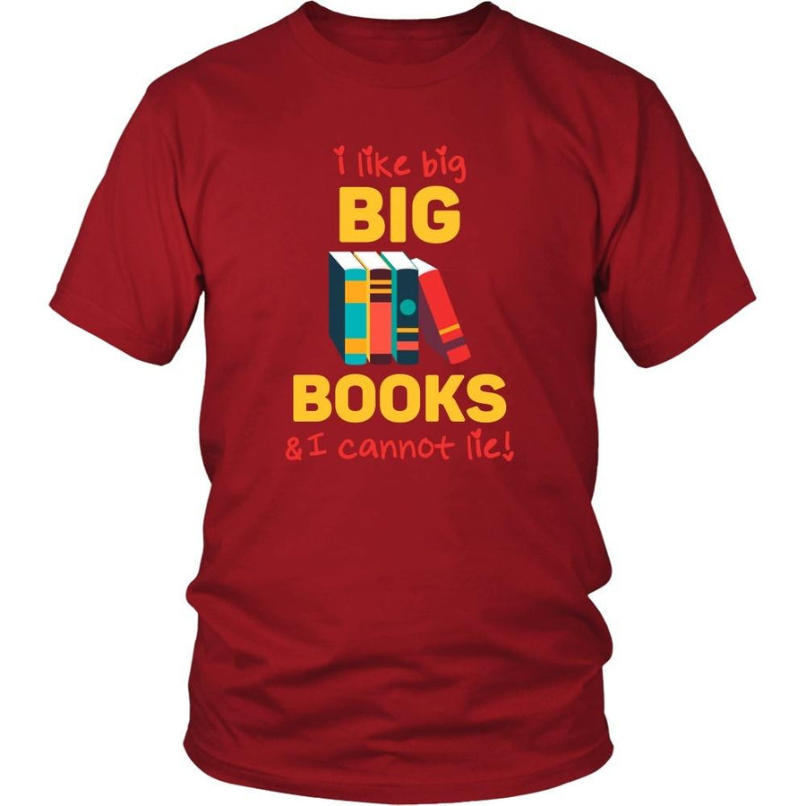 Book Reading T Shirt - I like big books & I cannot lie-T-shirt-Teelime | shirts-hoodies-mugs