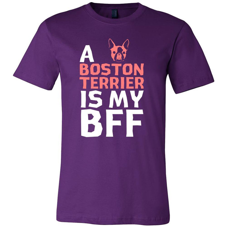 Boston terrier Shirt - a Boston terrier is my bff- Dog Lover Gift-T-shirt-Teelime | shirts-hoodies-mugs