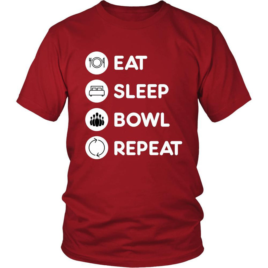 Bowling - Eat, sleep, bowl, repeat - Bowling Hobby Shirt-T-shirt-Teelime | shirts-hoodies-mugs