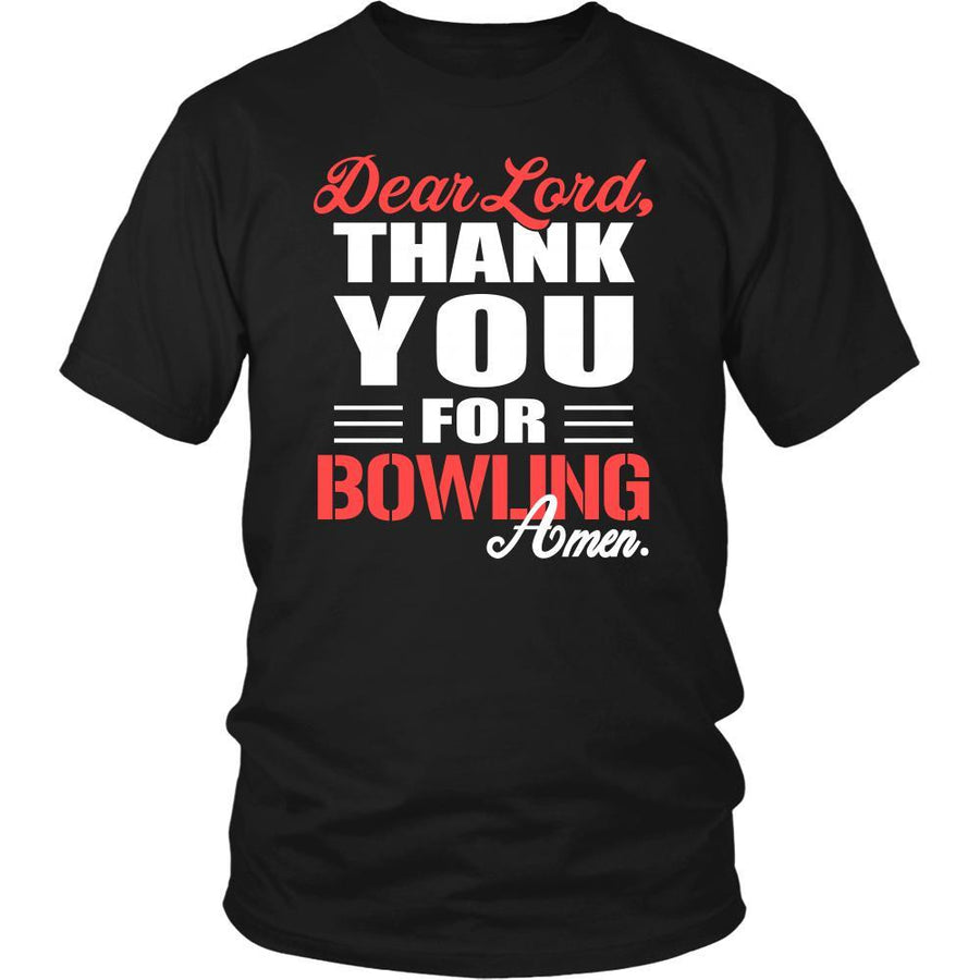 Bowling Shirt - Dear Lord, thank you for Bowling Amen- Hobby-T-shirt-Teelime | shirts-hoodies-mugs