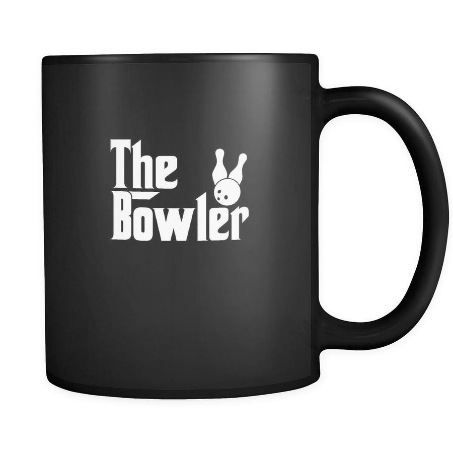 Bowling The Bowler 11oz Black Mug-Drinkware-Teelime | shirts-hoodies-mugs