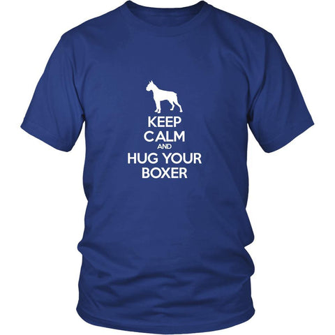 Boxer Shirt - Keep Calm and Hug Your Boxer- Dog Lover Gift Gift-T-shirt-Teelime | shirts-hoodies-mugs