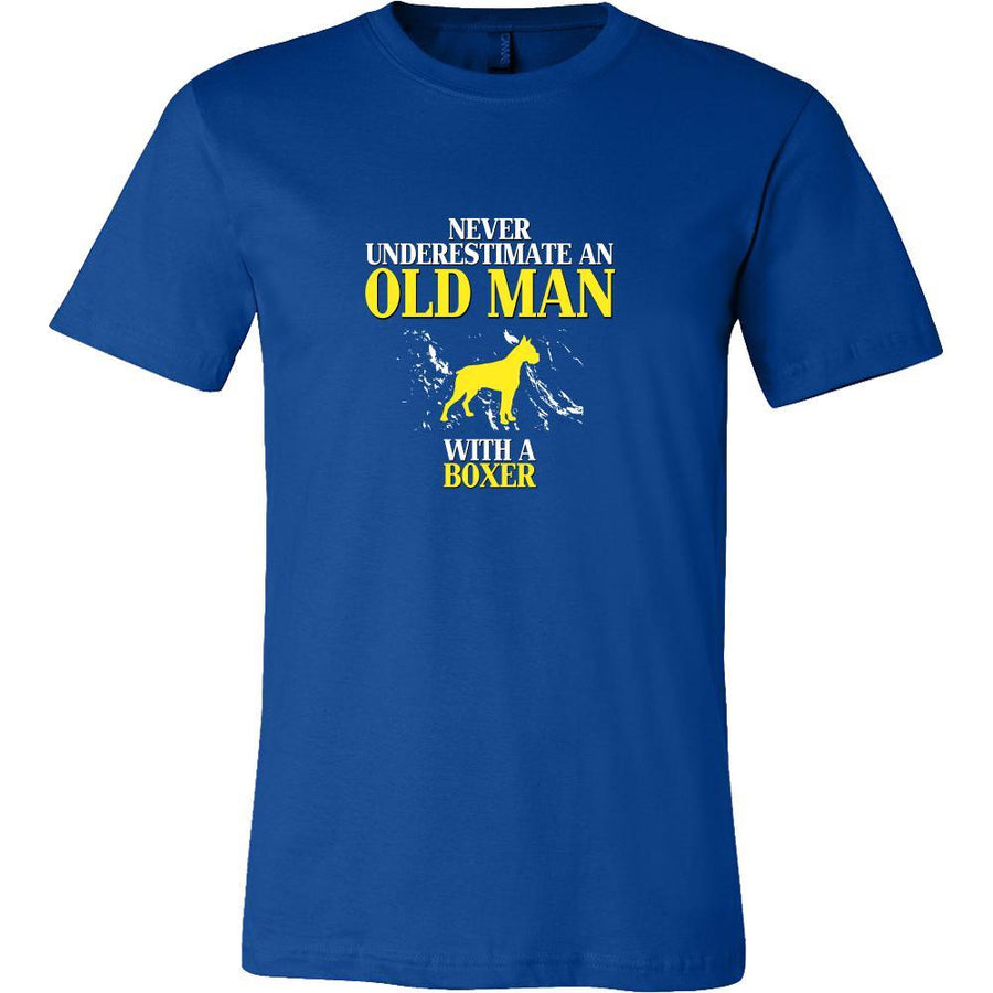 Boxer Shirt - Never underestimate an old man with a Boxer Grandfather Dog Gift-T-shirt-Teelime | shirts-hoodies-mugs