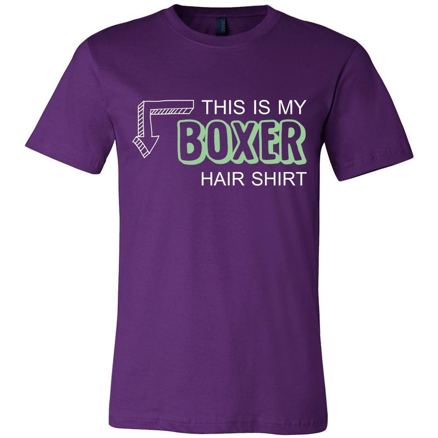 Boxer Shirt - This is my Boxer hair shirt - Dog Lover Gift-T-shirt-Teelime | shirts-hoodies-mugs