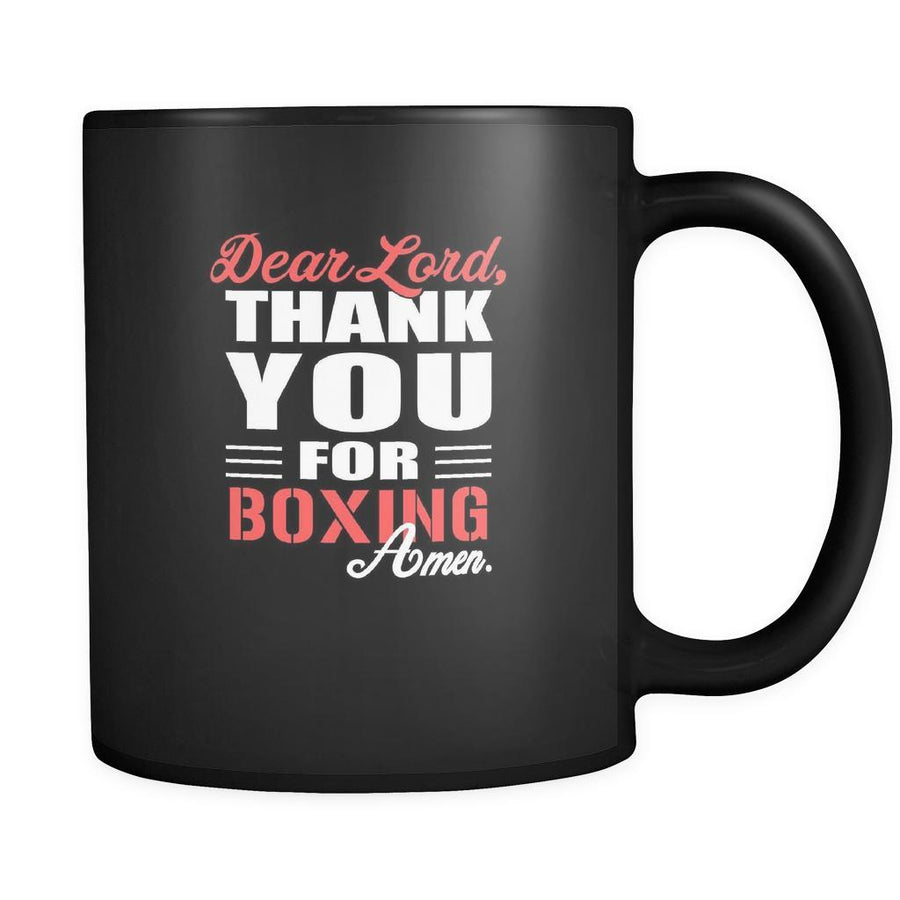 Boxing Dear Lord, thank you for Boxing Amen. 11oz Black Mug-Drinkware-Teelime | shirts-hoodies-mugs