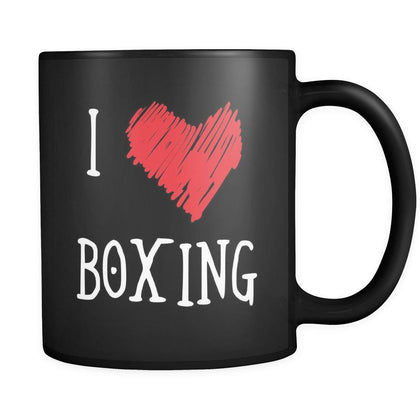 Boxing I Love Boxing 11oz Black Mug-Drinkware-Teelime | shirts-hoodies-mugs