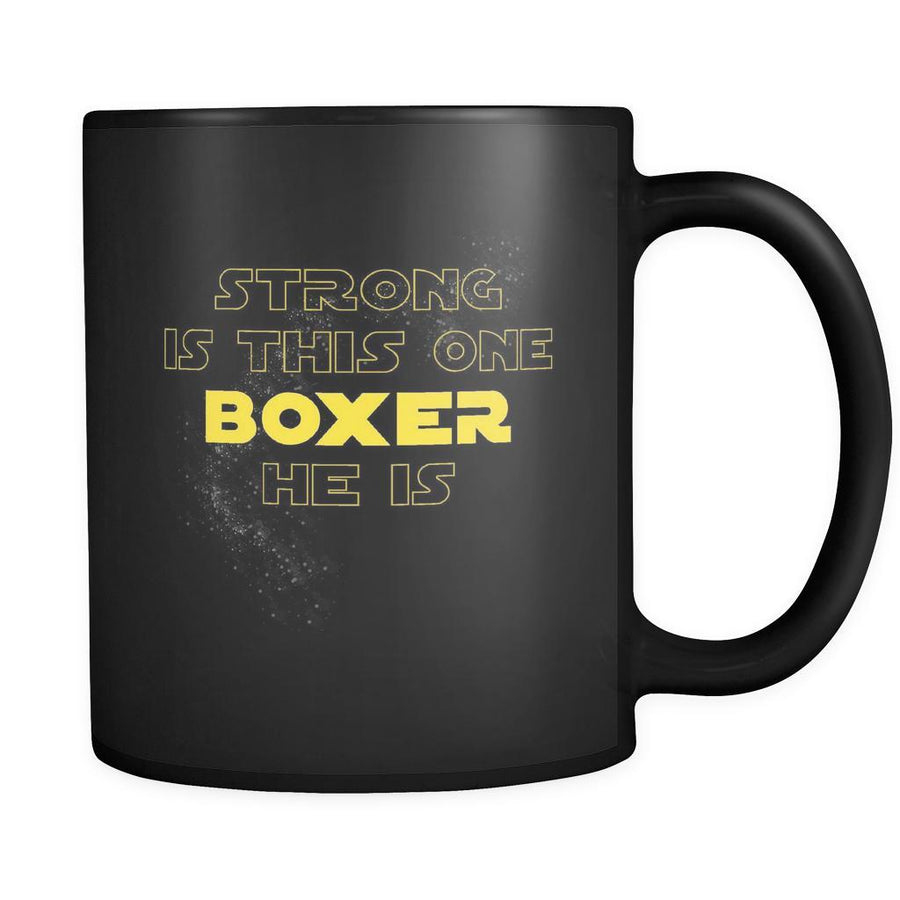 Boxing Strong Is This One Boxer He Is 11oz Black Mug-Drinkware-Teelime | shirts-hoodies-mugs
