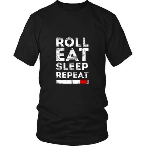 Brazilian Jiu Jitsu T Shirt - Roll Eat Sleep Repeat-T-shirt-Teelime | shirts-hoodies-mugs
