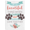 Veterinary Canvas - It's beautiful thing when a career and a passion come together-Canvas Wall Art 2-Teelime | shirts-hoodies-mugs
