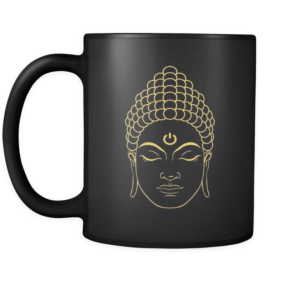 Buddhism Buddha Power 11oz Black Mug-Drinkware-Teelime | shirts-hoodies-mugs
