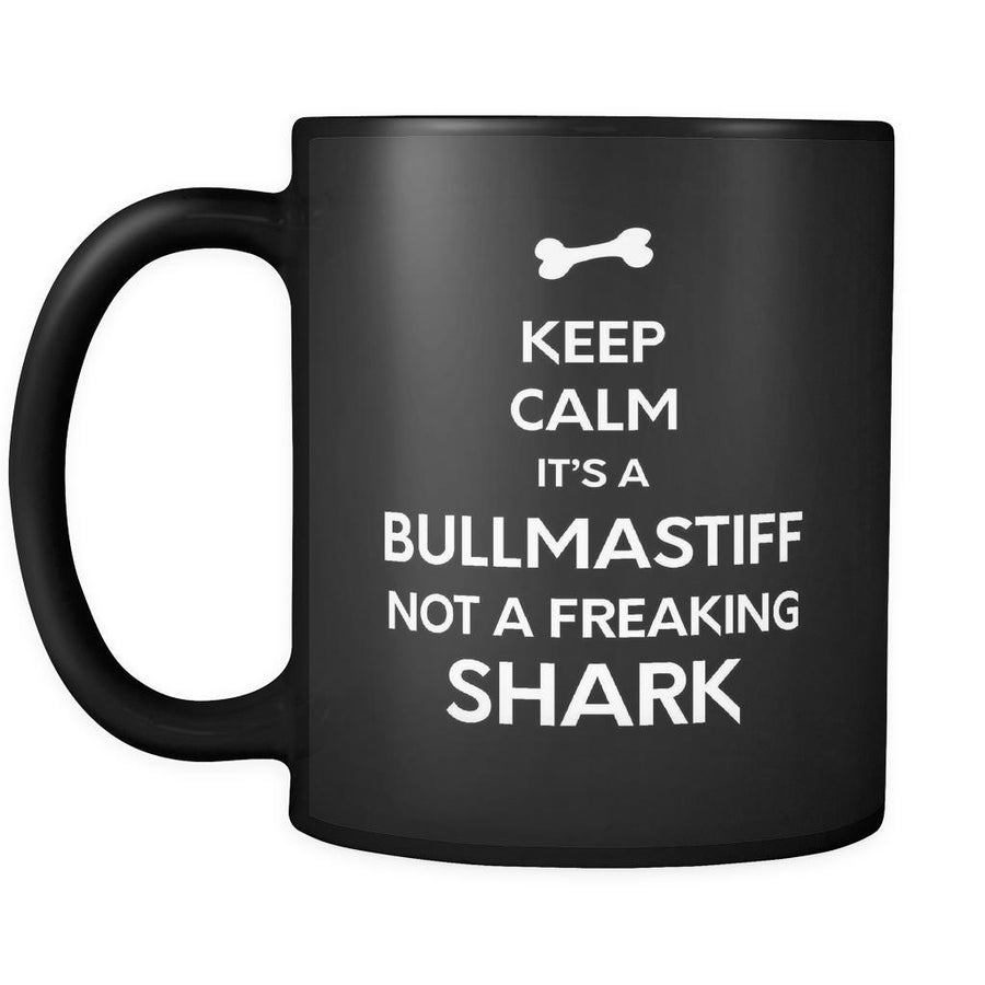 Bullmastiff It's A Bullmastiff Not A Shark 11oz Black Mug-Drinkware-Teelime | shirts-hoodies-mugs