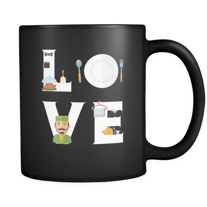 Butler - LOVE Butler - 11oz Black Mug-Drinkware-Teelime | shirts-hoodies-mugs