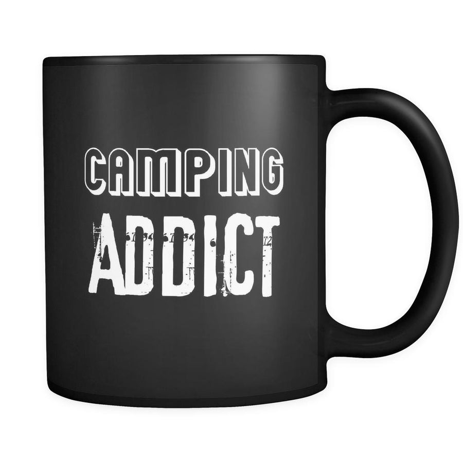 Camping Camping Addict 11oz Black Mug