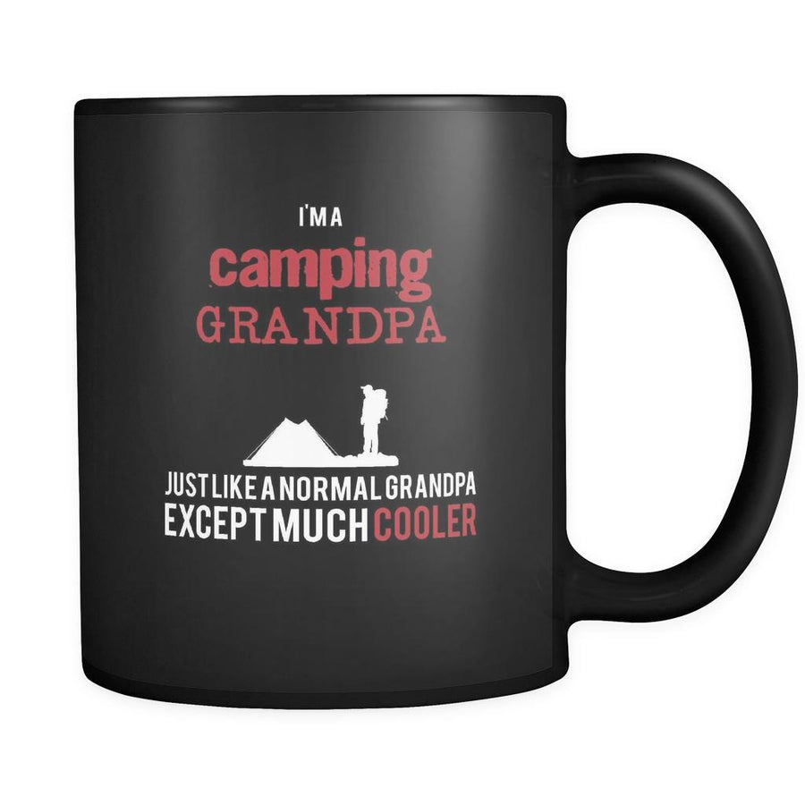 Camping I'm a camping grandpa just like a normal grandpa except much cooler 11oz Black Mug-Drinkware-Teelime | shirts-hoodies-mugs