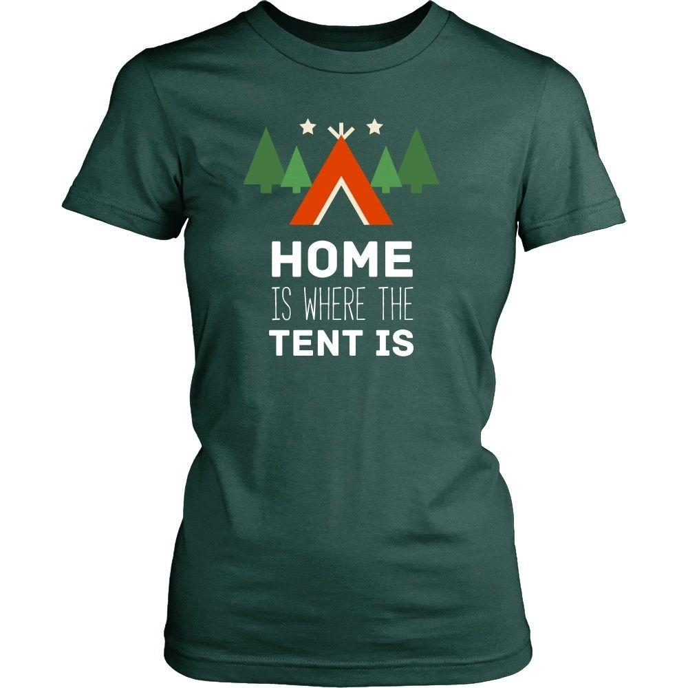 9e238048a9 Camping T Shirt - Home is where the tent is - Teelime | Unique t-shirts