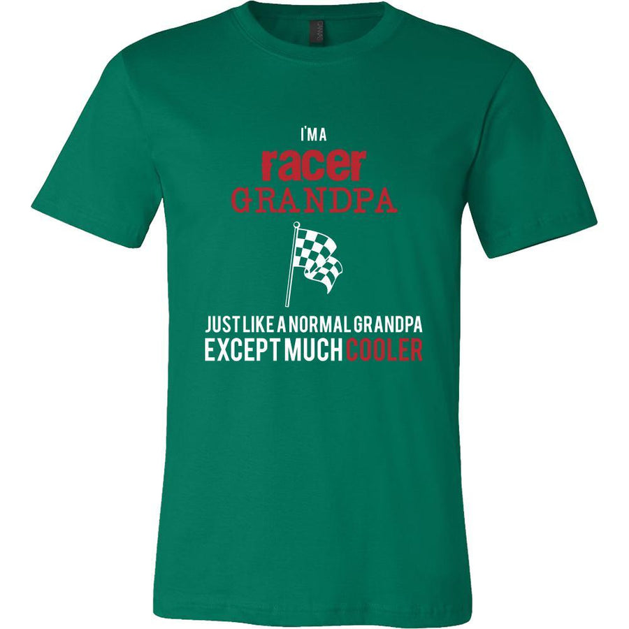 Car Racing Shirt - I'm a racer grandpa just like a normal grandpa except much cooler Grandfather Hobby Gift