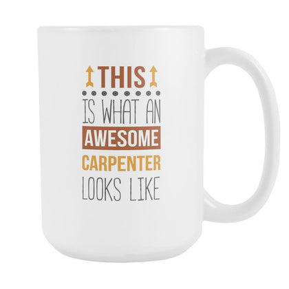 Carpenter mug - Awesome Carpenter-Drinkware-Teelime | shirts-hoodies-mugs
