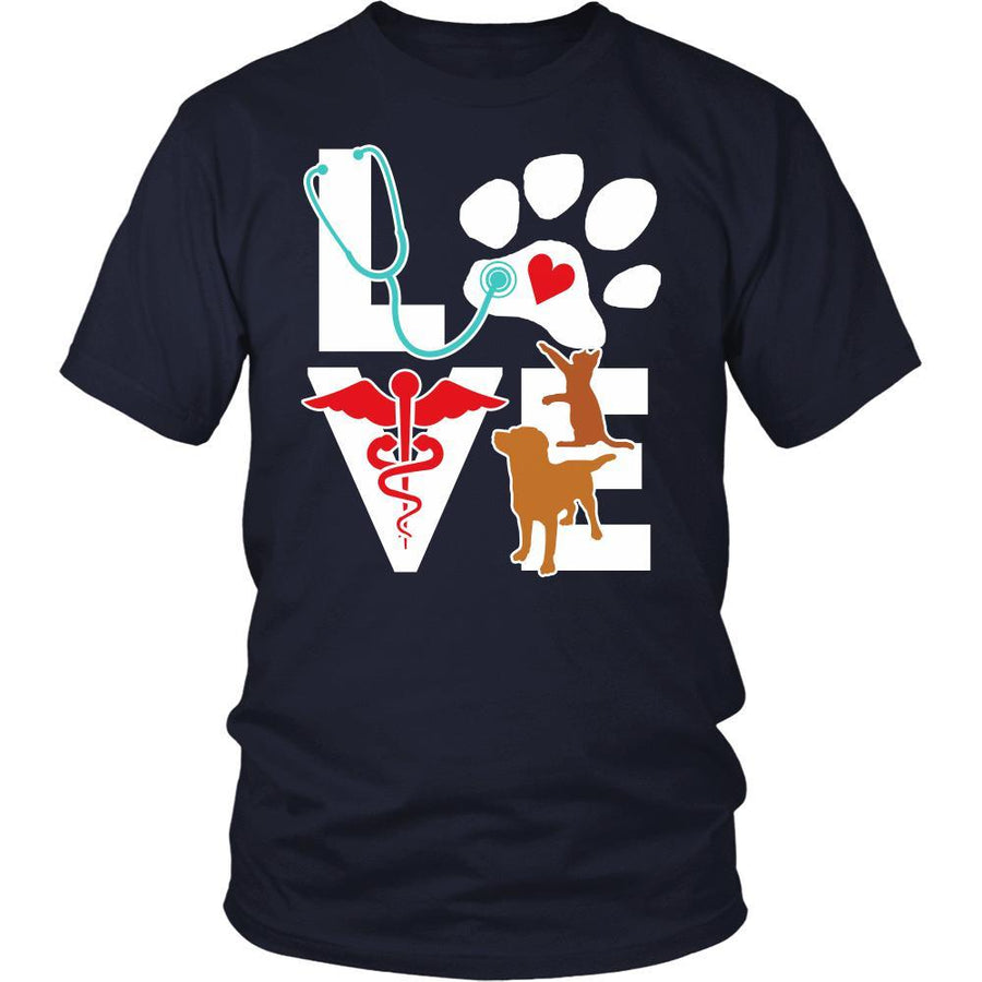 Cat and Dog T shirt - Love Cat and Dog Little Critters-T-shirt-Teelime | shirts-hoodies-mugs