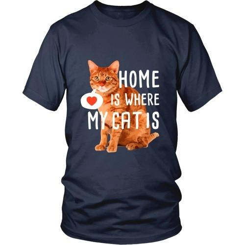 Cats T Shirt - Home is where my Cat is-T-shirt-Teelime | shirts-hoodies-mugs