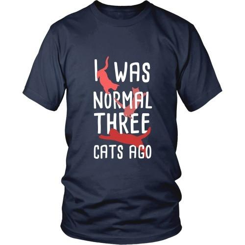 Cats T Shirt - I was Normal three Cats ago-T-shirt-Teelime | shirts-hoodies-mugs