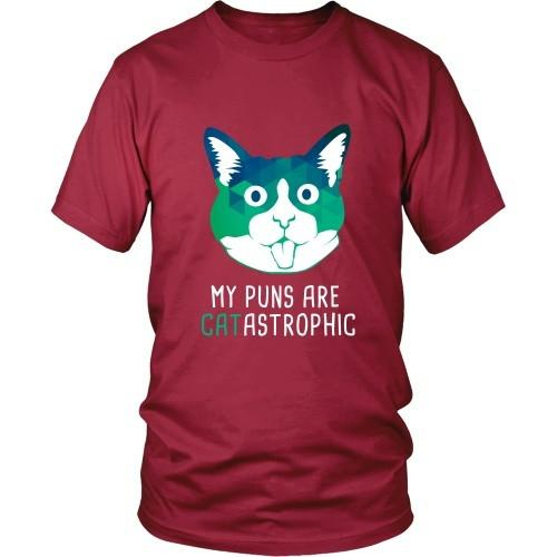 Cats T Shirt - My puns are CATastrophic-T-shirt-Teelime | shirts-hoodies-mugs