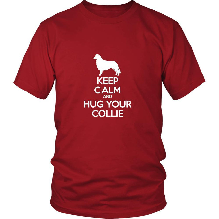 Collie Shirt - Keep Calm and Hug Your Collie- Dog Lover Gift-T-shirt-Teelime | shirts-hoodies-mugs