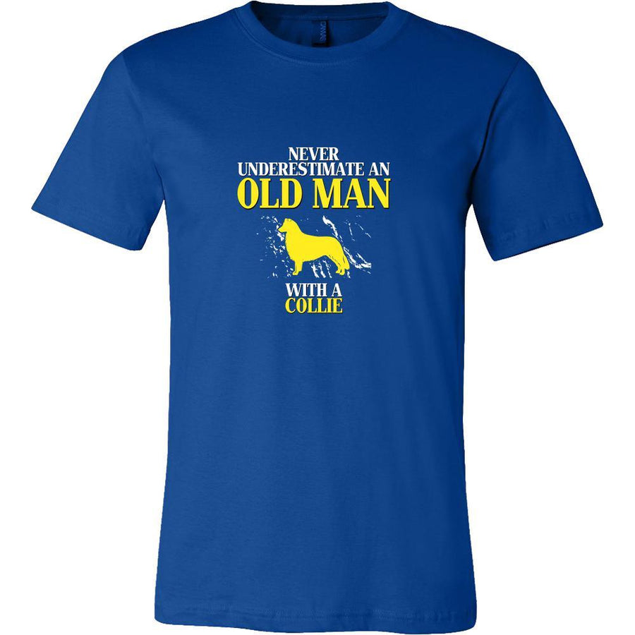 Collie Shirt - Never underestimate an old man with a Collie Grandfather Dog Gift-T-shirt-Teelime | shirts-hoodies-mugs