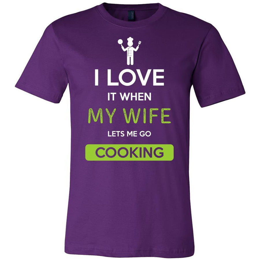 Cooking Shirt - I love it when my wife lets me go Cooking - Hobby Gift-T-shirt-Teelime | shirts-hoodies-mugs