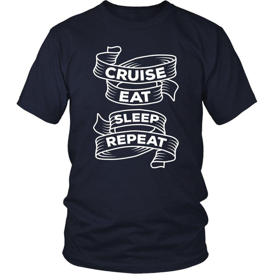 Cruising T Shirt - Cruise Eat Sleep Repeat-T-shirt-Teelime | shirts-hoodies-mugs