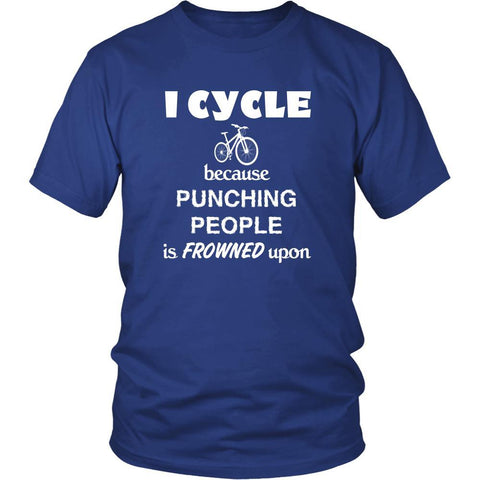Cycling / BMX / Bike - I Cycle because punching people is frowned upon - Cycler Hobby Shirt-T-shirt-Teelime | shirts-hoodies-mugs