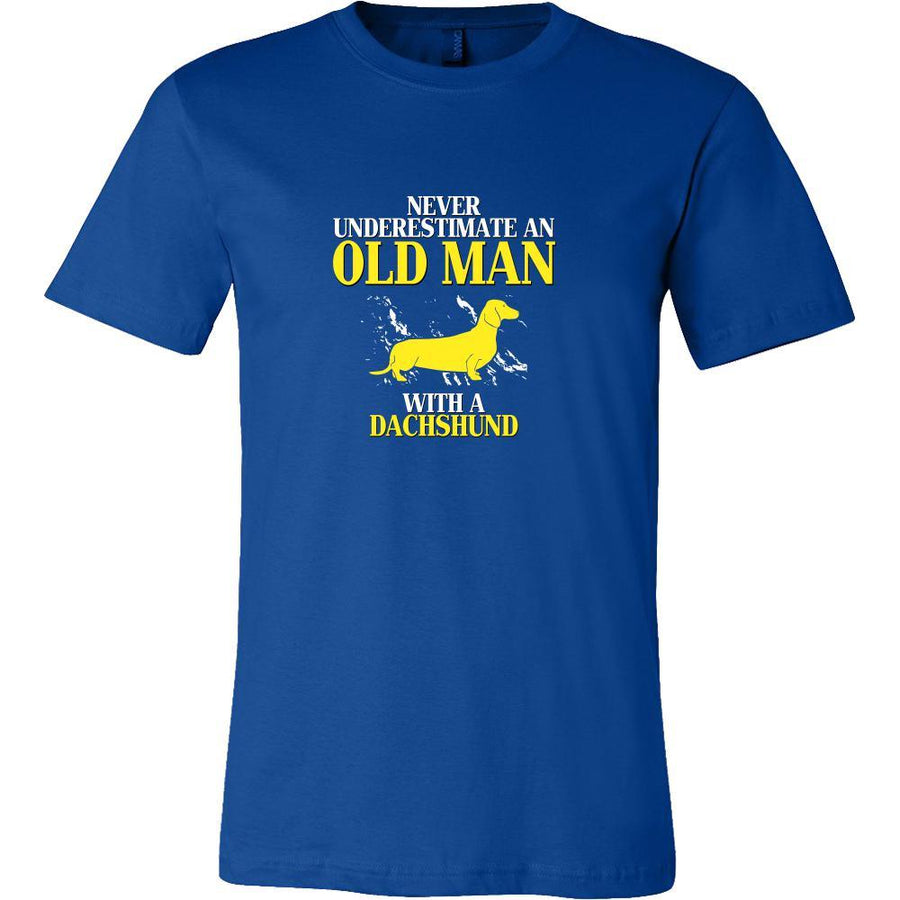 Dachshund Shirt - Never underestimate an old man with a Dachshund Grandfather Dog Gift-T-shirt-Teelime | shirts-hoodies-mugs