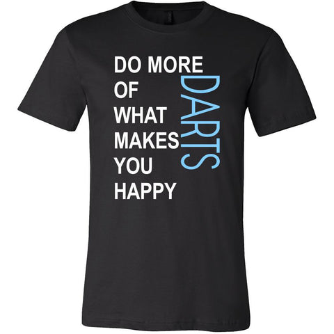 Darts Shirt - Do more of what makes you happy Darts- Hobby Gift-T-shirt-Teelime | shirts-hoodies-mugs