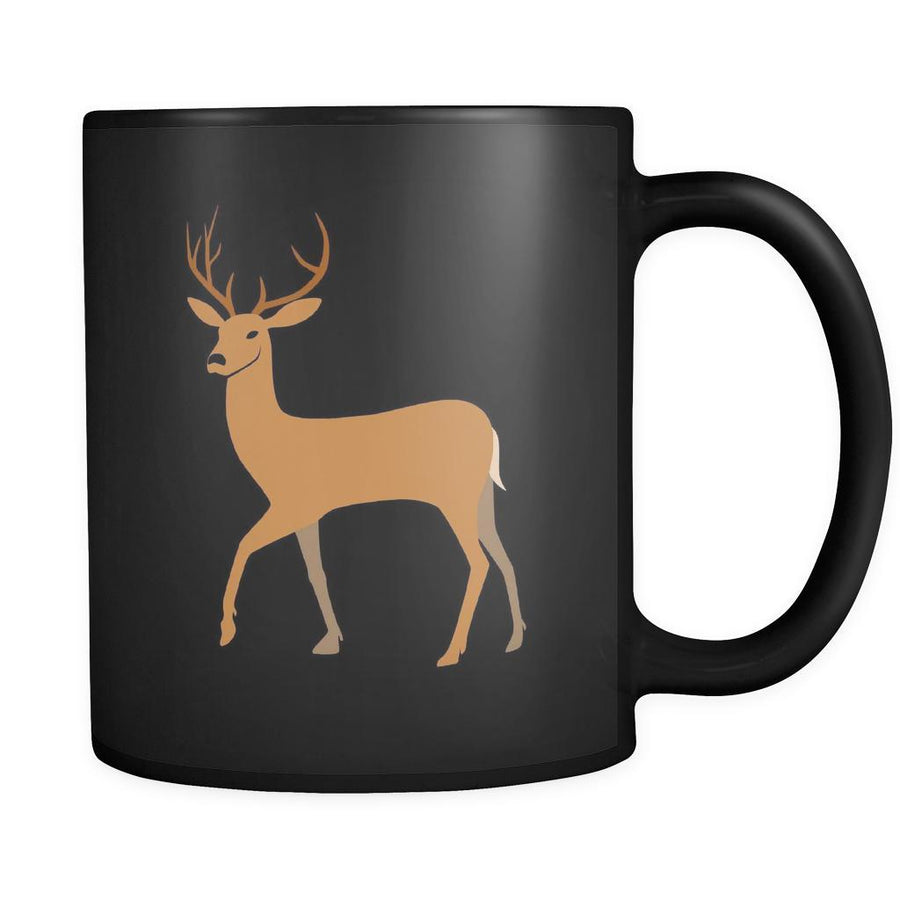 Deer Animal Illustration 11oz Black Mug-Drinkware-Teelime | shirts-hoodies-mugs