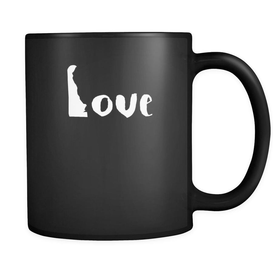 Delaware Love Delaware 11oz Black Mug-Drinkware-Teelime | shirts-hoodies-mugs