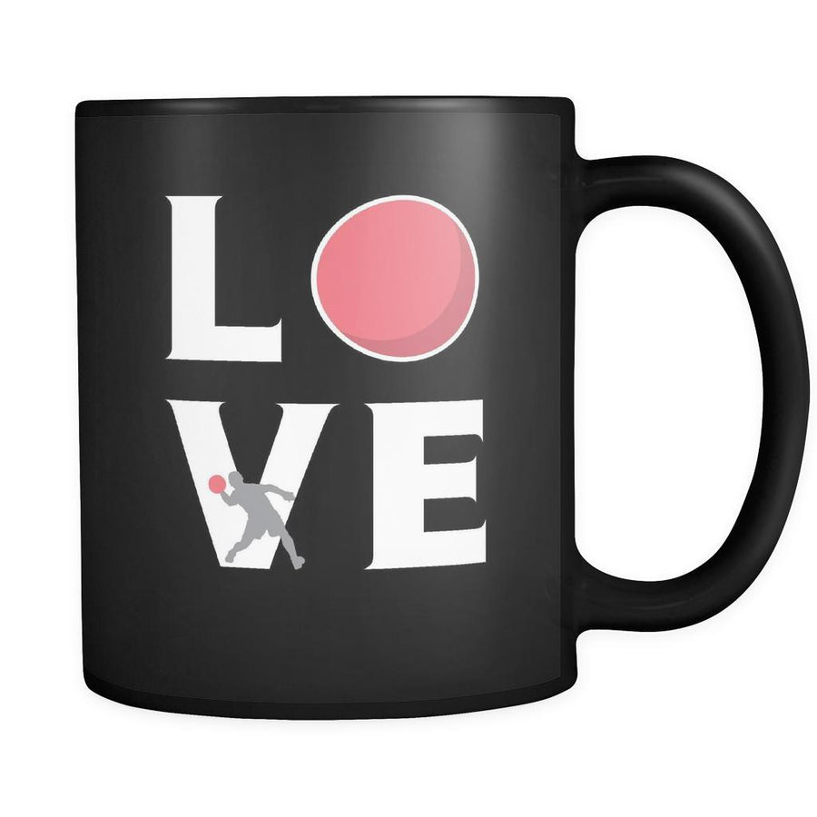 Dodgeball - LOVE Dodgeball - 11oz Black Mug-Drinkware-Teelime | shirts-hoodies-mugs