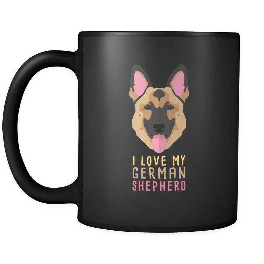 Dog Lover Cofee cup - I love my German Shepherd-Drinkware-Teelime | shirts-hoodies-mugs