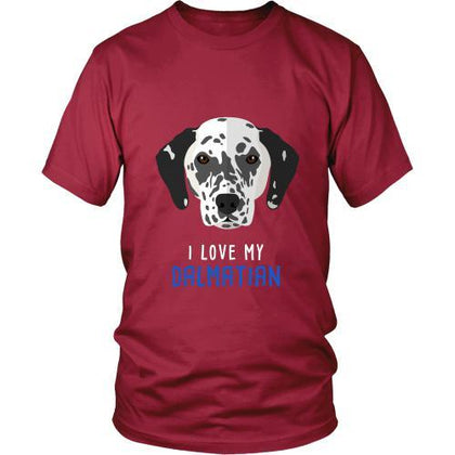 Dogs T Shirt - I love my Dalmatian-T-shirt-Teelime | shirts-hoodies-mugs